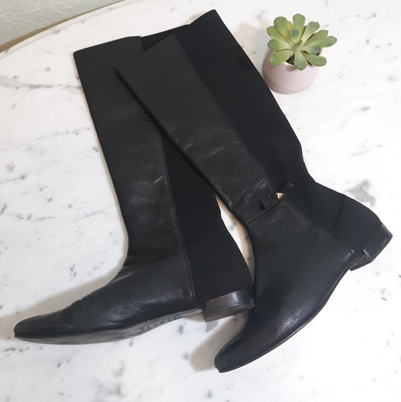 kate spade Shoes - KATE SPADE leather knee high riding boots